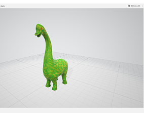 brachiosaurus sculpture - printable toy