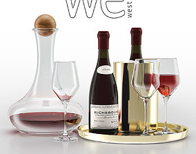 3D model West Elm Bar Wine Set
