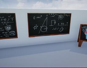 Lowpoly Blackboards 3D asset