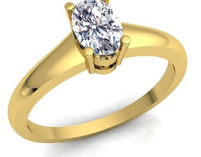 anniversary Solitaire Diomand Ring 3D print model