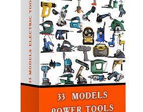 3D 33 MODELS ELECTRIC TOOLS PACK gun
