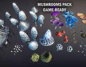 Mushrooms pack 3D asset