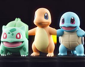 Pokemon - Starter 3D print model