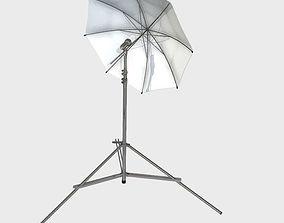 Low Poly PBR Umbrella Light 3D asset