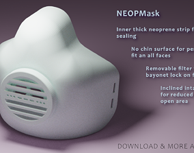 NEOPMask - 3D Printable mask with exchangeable filter -