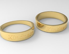 3D printable model Kindness Couple Ring Gold 24k Polished