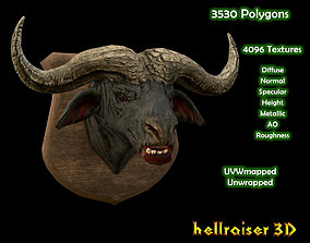 3D model Buffalo Head - PBR - Textured