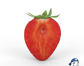 3D model Strawberry Half