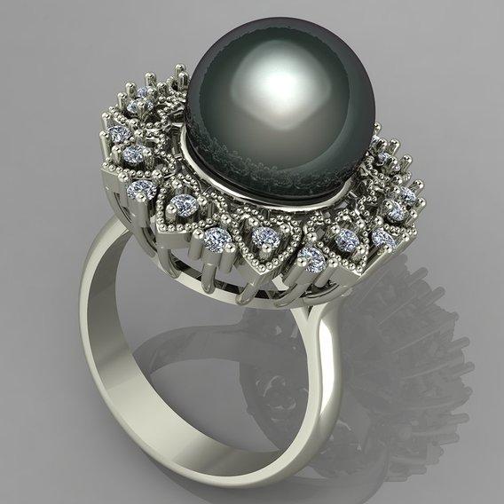 pearl women ring