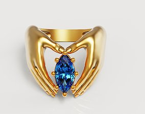 3D print model Marquise hand ring