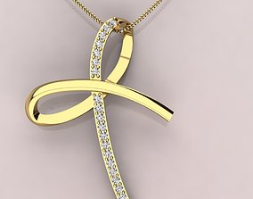 3D printable model Bow diamond pendant necklace