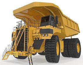3D model Rigged Mining Truck