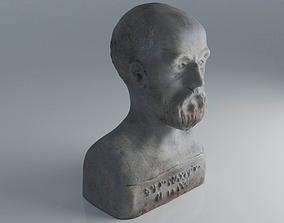 3D Ancient Bust Sulpture