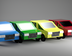 3D model Low Poly Cars