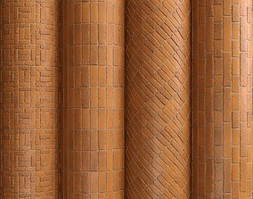 3D model Materials 13- Brick Tiles PBR in 4 Patterns