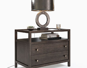 3D model Crate and Barrel - Keane Solid Wood Nightstand