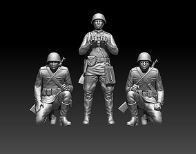 ussr soldiers 3D print model