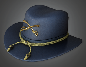 3D asset HAT - Civil War Hat - PBR Game Ready