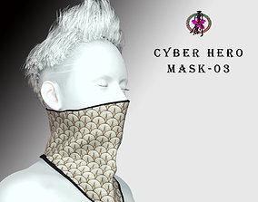 3D asset Cyber Hero - Mask03