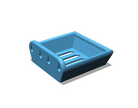 Bathroom Soap Tray wall mounted 3D printable model
