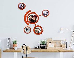 Circles photo frames 3D printable model