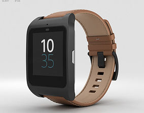 3D model Sony SmartWatch 3 SWR50 Leather Brown