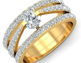 Women cocktail ring 3dm stl render detail jewelry
