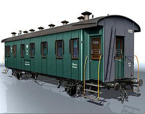 3D model Passenger carriage 2-axles