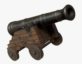 3D asset Pirate Cannon