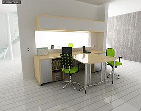 3D model game-ready Office Set