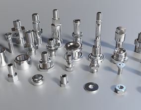 Parts threaded gear 3D model