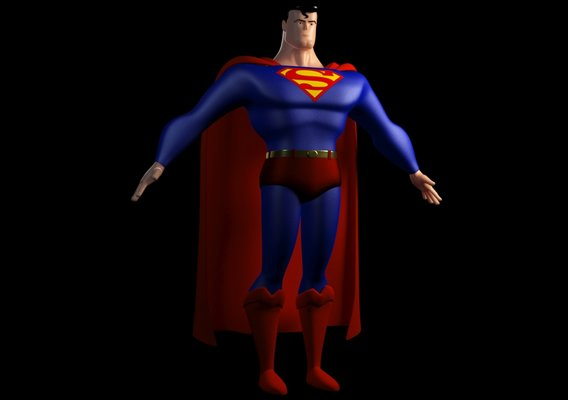 The Man of Steel Cartoon Version (Upcoming 3D Model) WIP