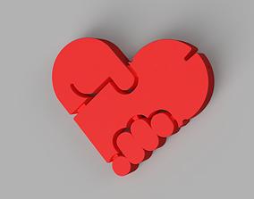 3D print model Funny heart pendant Valentine Day gift