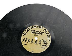 12 Inch Vinyl Record 3D asset