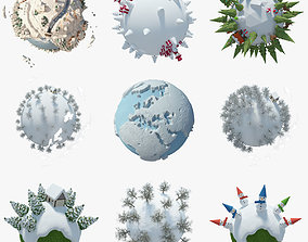 Collection Planet Winter 3D model