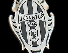 3D printable model Juventus vintage silver pendant