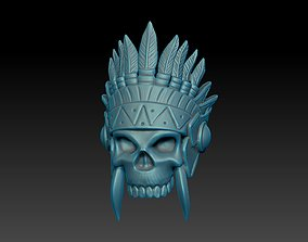 Native American Skull Ring 3D print model
