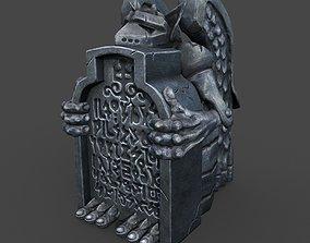coffin 3D asset Gargoyle
