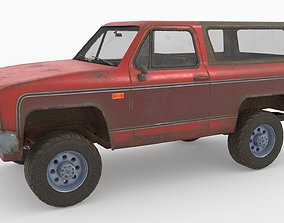 Low poly SUV pick up 3D model