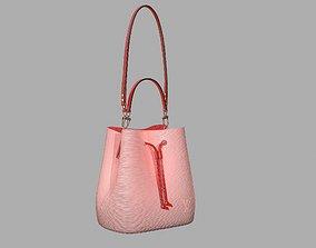 Louis Vuitton Neonoe MM Bag Epi Leather Rose 3D model 1