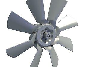 3D Model of Engine Cooling Fan