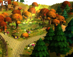 3D asset Cartoon Forest Constructor