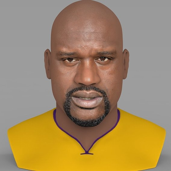 Shaq O'Neal bust for full color 3D printing