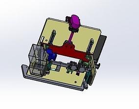 rotating mechanism 3D model belt