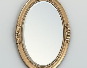 3D Oval mirror frame 003
