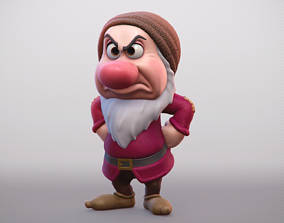 Grumpy - One of the seven Dwarfs - printable character