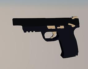 3D Pistol low-poly