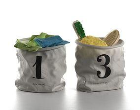Bathroom Accessories in Bags 3D