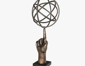 Bronze Sculpture Hand 3D model