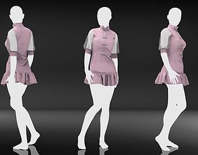 Female Fashion and Clothes - Vintage Pink 3D model